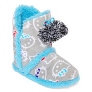 Hello Kitty® Pom Pom Print Boot Slippers