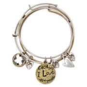 Messages from the Heart® by Sandra Magsamen® Love Charm Bangle