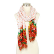 Floral and Dots Scarf