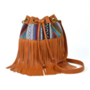 Arizona Astor Fringe Bucket Bag