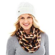 Liz Claiborne Cuffed Hat or Infinity Scarf
