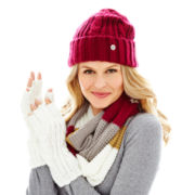 Liz Claiborne Cuffed Hat, Infinity Scarf or Fingerless Gloves