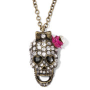 Arizona Crystal-Embellished Skull Necklace