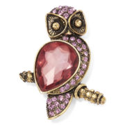 Monet® Purple Stone Gold-Tone Owl Pin