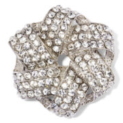Monet® Crystal Silver-Tone Knot Pin