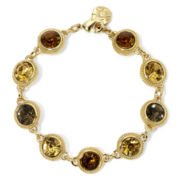 Monet® Brown, Yellow and Green Stone Gold-Tone Bracelet