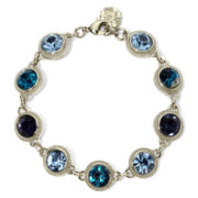 Monet® Blue Stone Silver-Tone Bracelet