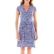 Liz Claiborne® Short-Sleeve Wrap Dress