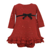 Bonnie Baby Red Dot Dress - Girls 3-24m