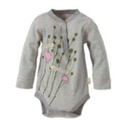 Burt's Bees Baby™ Long-Sleeve Henley Bodysuit – Girls newborn-24m