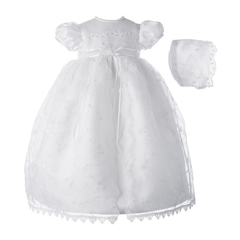 Keepsake® Christening Dress and Hat - Girls newborn-9m