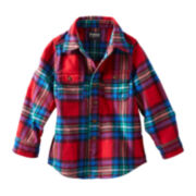 OshKosh B'gosh® Long-Sleeve Woven Plaid Shirt – Boys 2t-4t