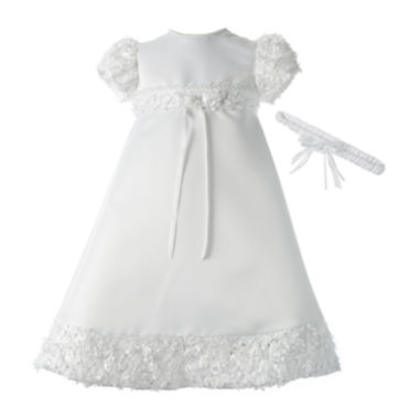 jcpenney.com | Keepsake® Christening Dress and Headband Set - Girls newborn-12m