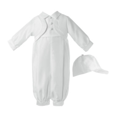 jcpenney.com | Keepsake® Christening Hat, Shirt and Pants Set - Boys newborn-24m