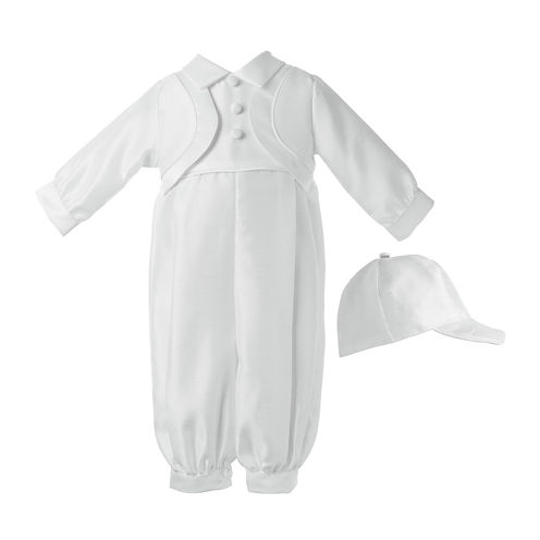Keepsake® Christening Hat, Shirt and Pants Set - Boys