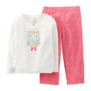 Carter's® 2-pc. Long-Sleeve Microfleece Pajama Set - Girls 12m-24m