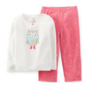 Carter's® 2-pc. Long-Sleeve Microfleece Pajama Set – Girls 2t-5t
