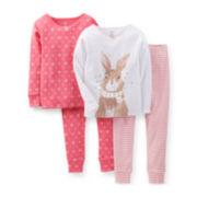 Carter's® 4-pc. Pajama Set - Girls 12m-24m