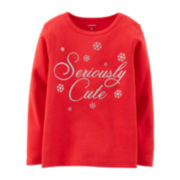 Carter's® Long-Sleeve Holiday Tee – Girls 2t-4t