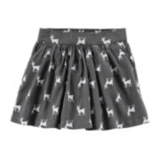 Carter's® Deer-Print Sateen Skirt – Girls 2t-4t