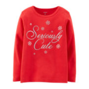 Carter's® Long-Sleeve Holiday Tee – Girls 5-6x