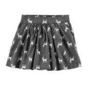 Carter's® Deer-Print Sateen Skirt - Girls 5-6x