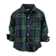 Carter's® Long-Sleeve Button-Front Flannel Shirt - Boys 2t-4t