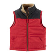 Carter's® Zip-Front Fleece-Lined Vest – Boys 2t-4t