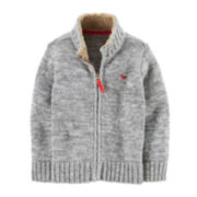 Carter's® Zip-Front Knit Sweater Jacket – Boys 2t-4t