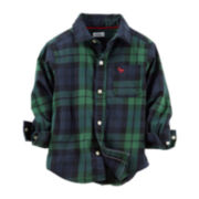 Carter's® Long-Sleeve Button-Front Flannel Shirt – Boys 5-7