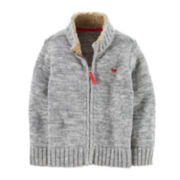 Carter's® Zip-Front Knit Sweater Jacket – Boys 5-7