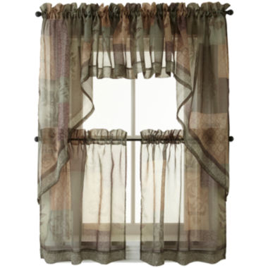 jcpenney.com | Eden Rod-Pocket Kitchen Window Treatments