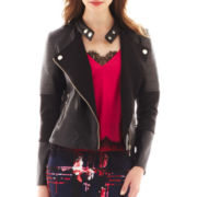 Bisou Bisou® Faux-Leather Moto Jacket