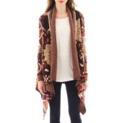 i jeans by Buffalo Long-Sleeve Patterned Flyaway Cardigan Sweater