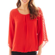 Alyx® Crochet-Sleeve Bubble Top