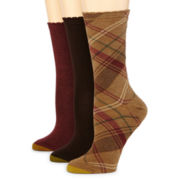 Gold Toe® 3-pk. Plaid Dress Socks