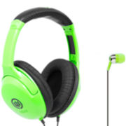 Wicked Audio Mixed Noise Isolation 2-for-1 Headphones & Ear Buds Set