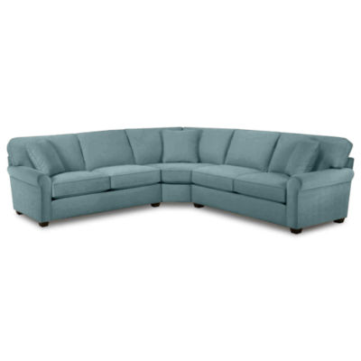 Fabric Possibilities Roll-Arm 3-pc. Right-Arm Loveseat Sectional with Sleeper