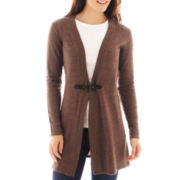 Susan Lawrence Long-Sleeve Open-Front Cardigan