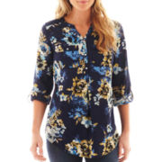St. John's Bay® Long-Sleeve Floral Tunic