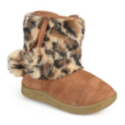 Journee Pom Animal Print Girls Boots - Little Kids/Big Kids