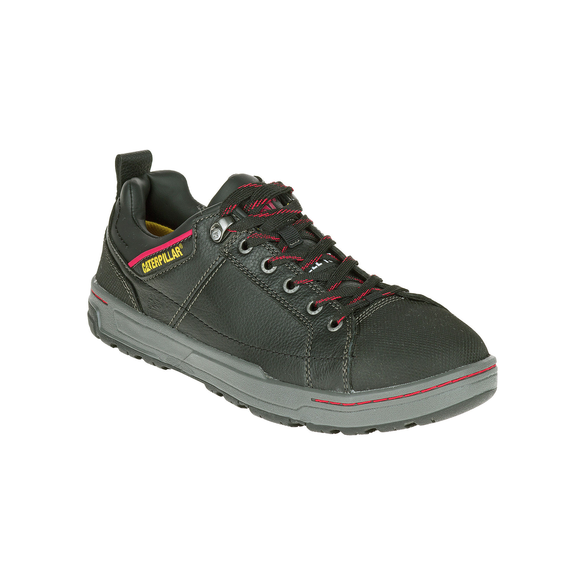 CAT Brode EH Mens Steel-Toe Slip-Resistant Leather Sneakers