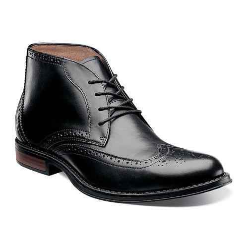 Nunn Bush® Rawson Mens Wingtip Leather Chukka Boots