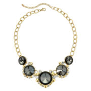 Mixit™ Brown Stone and Crystal Gold-Tone Statement Necklace