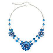 Mixit™ Blue Bead 3-Flower Necklace
