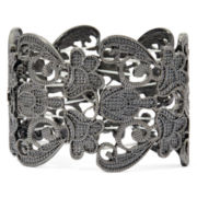 Bold Elements™ Hematite Filigree Stretch Bracelet