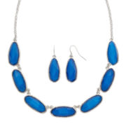 Mixit™ Blue Bead Earring and Collar Necklace Set