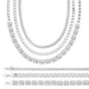 Mixit™ Silver-Tone 6-pc. Bracelet and Necklace Set