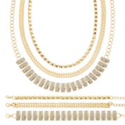 Mixit™ Gold-Tone 6-pc. Bracelet and Necklace Set