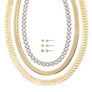 Mixit™ Two-Tone 6-pc. Earring and Necklace Set